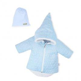 Nicol Zimní kojenecký kabátek s čepičkou Nicol Kids Winter modrý