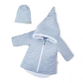 Nicol Zimní kojenecký kabátek s čepičkou Nicol Kids Winter šedý