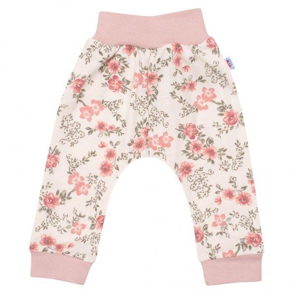 New Baby Kojenecké tepláčky New Baby Flowers růžové Růžová