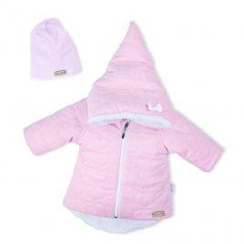 Nicol Zimní kojenecký kabátek s čepičkou Nicol Kids Winter růžový