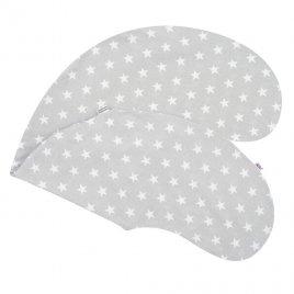 New Baby Povlak na kojící polštář New Baby Hvězdičky šedý