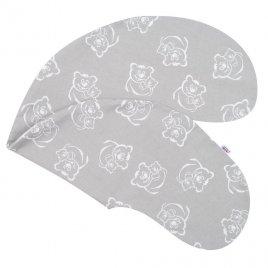 New Baby Povlak na kojící polštář New Baby Medvídci šedý