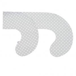 New Baby Povlak na kojící polštář ve tvaru C New Baby XL šedý s puntíky