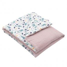 New Baby Dětská deka s výplní New Baby Vafle fialová králíčci 80x102 cm