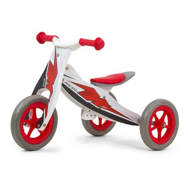 Milly Mally Dětské multifunkční odrážedlo 2v1 Milly Mally Look Racing Červená