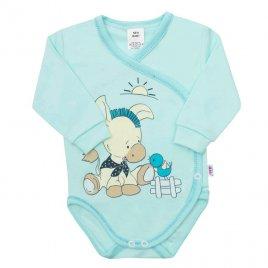New Baby Kojenecké body New Baby Donkey tyrkysové
