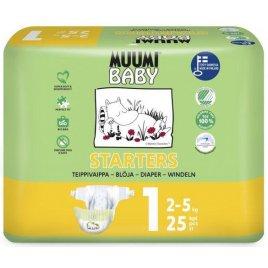 Muumi Pleny jednorázové 1 Newborn 2-5kg 25ks Baby
