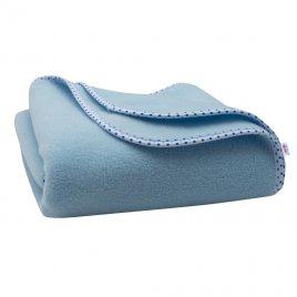 New Baby Dětská fleecová deka New Baby 100x75 modrá hvězdičky