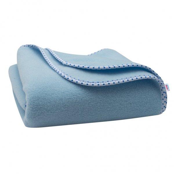 New Baby Dětská fleecová deka New Baby 100x75 modrá hvězdičky Modrá