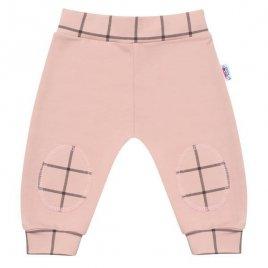 New Baby Kojenecké bavlněné tepláčky New Baby Cool růžové
