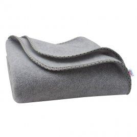 New Baby Dětská fleecová deka New Baby 100x75 šedá hvězdičky