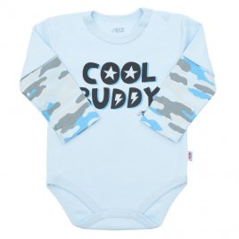 New Baby Kojenecké body s dlouhým rukávem New Baby With Love modré