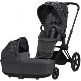 Cybex Priam podvozek, Seat Pack, Lux Carry Cot Simply Flowers
