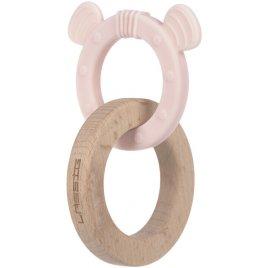 Lässig Teether Ring 2in1 Wood/Silikone Little Chums