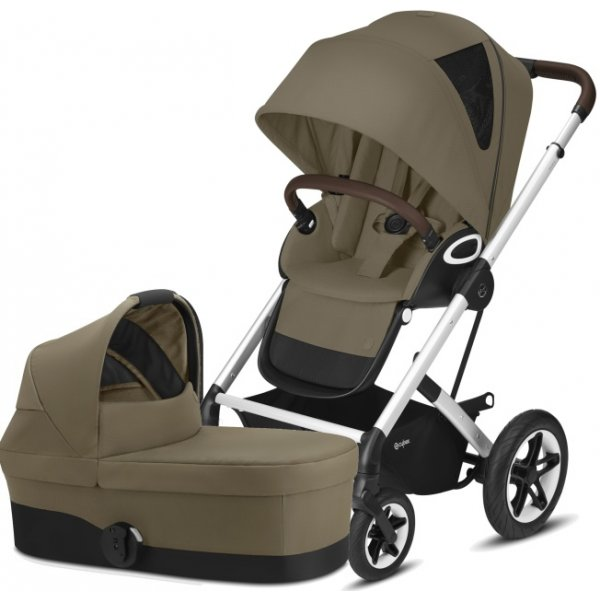 Cybex Talos S Lux SILVER, Carry cot S 2021 Classic Beige