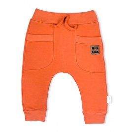 Nicol Kojenecké bavlněné tepláčky Nicol Fox Club oranžové