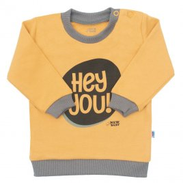 New Baby Kojenecké tričko New Baby With Love hořčicové