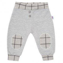 New Baby Kojenecké bavlněné tepláčky New Baby Cool šedé