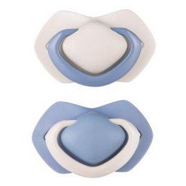 Canpol Set symetrických silikonových dudlíků 18 m + Pure Color modrý