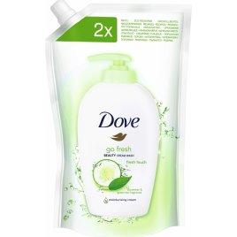 Dove Mýdlo tekuté svěží dotek Fresh Touch 500ml náhradní náplň