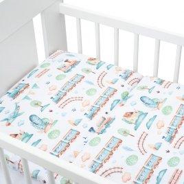 New Baby 2-dílné ložní povlečení New Baby 100/135 cm vláček