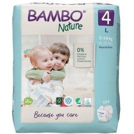 Bambo Nature Jednorázové pleny 4, 24 ks, 7-14 kg