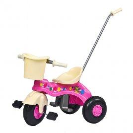 Bayo Dětská šlapací tříkolka s vodící tyčí BAYO JUNIOR