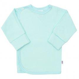 New Baby Kojenecká košilka s bočním zapínáním New Baby tyrkysová