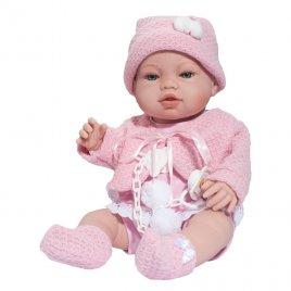 Berbesa Luxusní dětská panenka-miminko Berbesa Nela 43cm