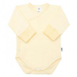 New Baby Kojenecké body s bočním zapínáním New Baby žluté