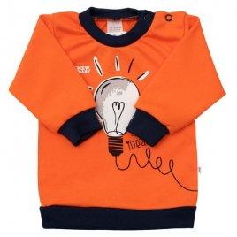 New Baby Kojenecké bavlněné tričko New Baby Happy Bulbs