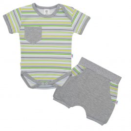 New Baby 2-dílná letní bavlněná souprava New Baby Perfect Summer stripes