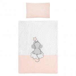 Belisima 5-dílné ložní povlečení Belisima Cute Mouse 90/120 růžové