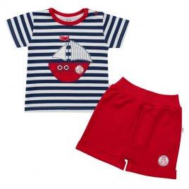 New Baby Kojenecká souprava tričko a kraťásky New Baby Marine