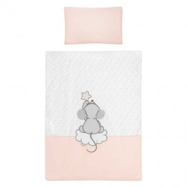 Belisima 5-dílné ložní povlečení Belisima Cute Mouse 100/135 růžové