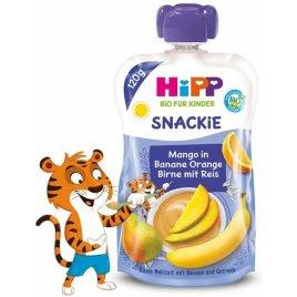 Hipp Příkrm ovocný BIO Sport hruška, pomeranč, mango, banán, rýže 120g